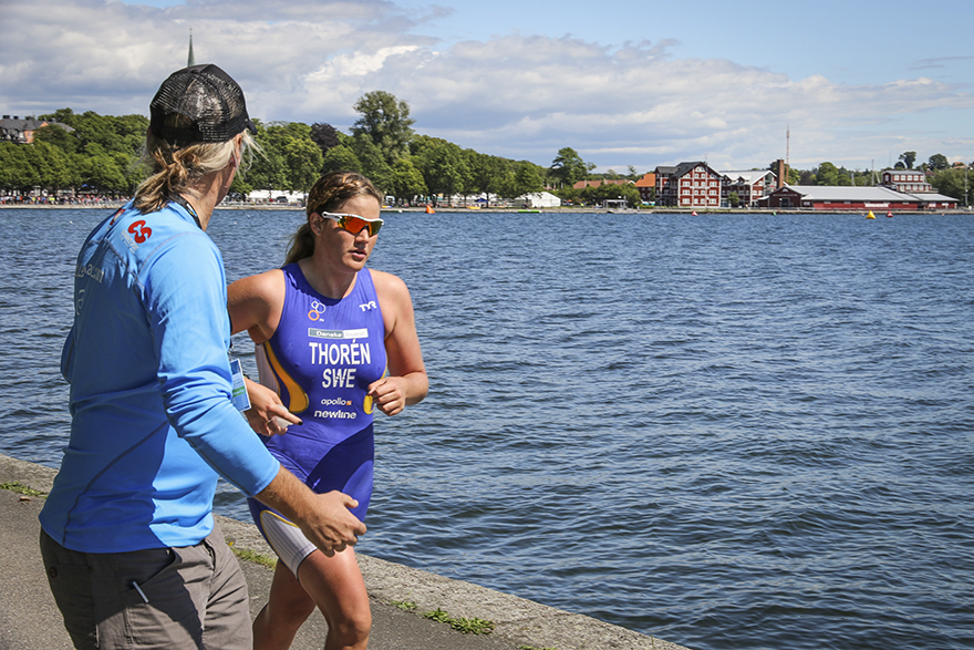 Motala ITU Long Distance Triathlon World ChampionshipsAnnie tränare