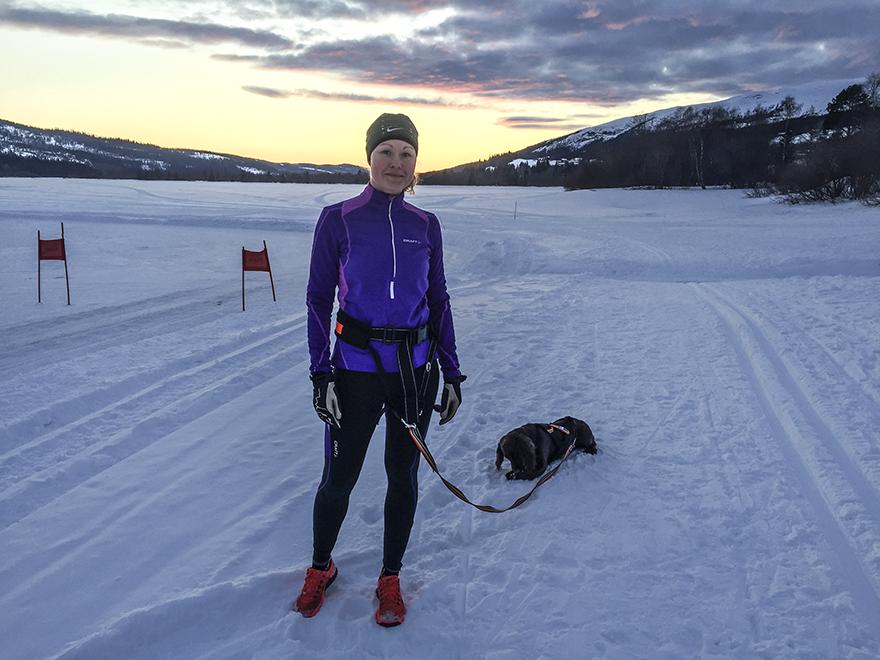 löpning med hund
